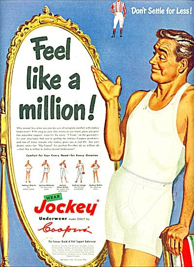 1950 JOCKEY Underwear AD FELL LIKE A MILLION (Image1)