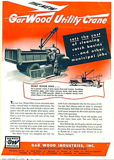 Gar Wood Industries Inc., ad  -1948 (Image1)