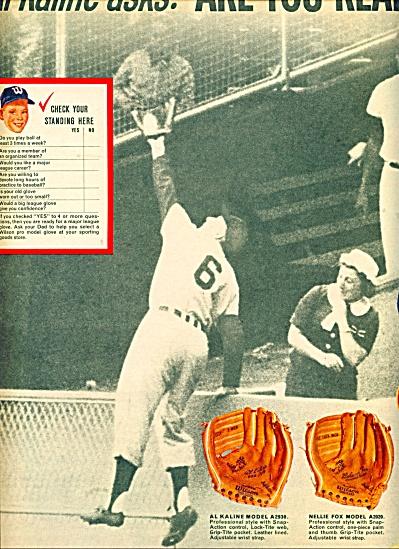 1962 Wilson Baseball AD AL KALINE DETROIT (Image1)