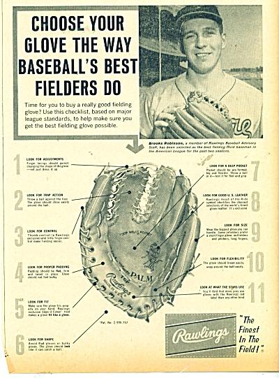 Rawlings baseball gloves ad BROOKS ROBINSON (Image1)