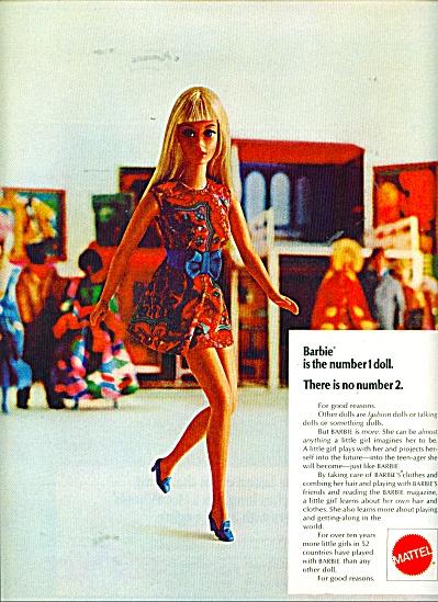 Vintage Mattel BARBIE Number 1 DOLL AD (Image1)