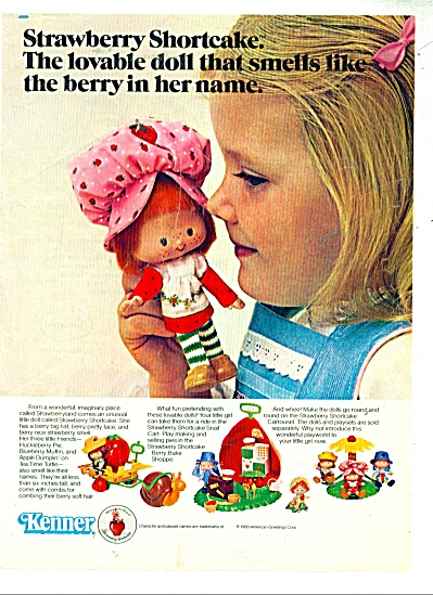 Strawberry Shortcake Doll Kenner Toys Ad 1980
