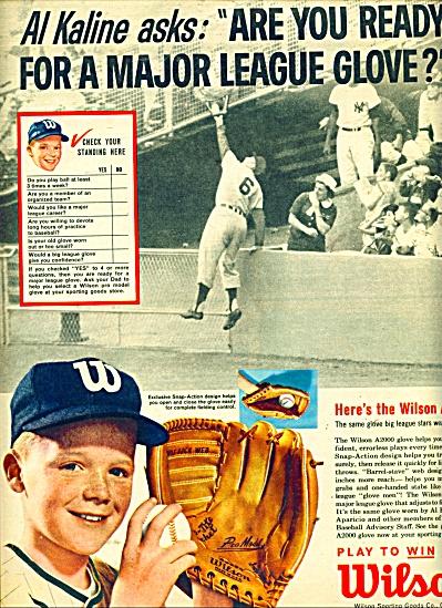 1963 Wilson Baseball AD AL KALINE DETROIT (Image1)