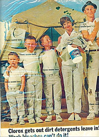 Clorox bleach ad  - 1965 (Image1)