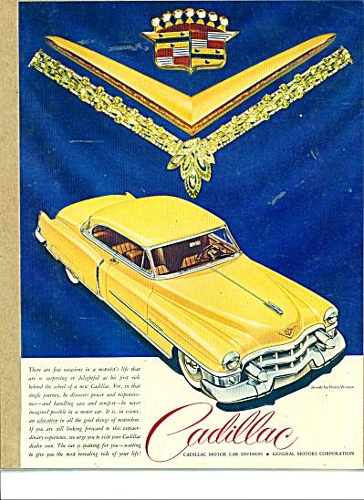 Cadillac  motor car ad  - 1953 (Image1)