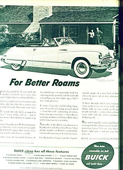 Buick motor car ad  - 1948 (Image1)