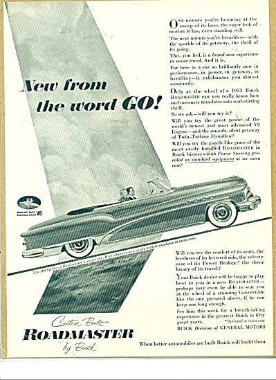 Roadmaster by Buick ad   1953 (Image1)