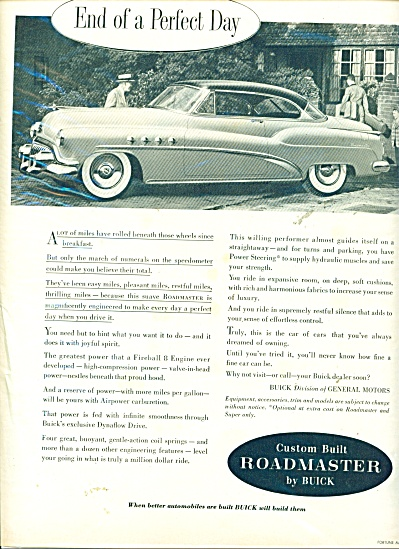 Roadmaster by Buick  ad  1952 (Image1)