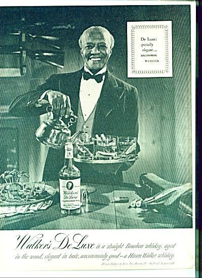1950's  Black Butler Walker Deluxe Bourban AD (Image1)