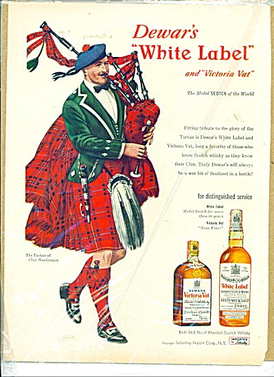 Dewar's Victoria Vat and White label ad (Image1)