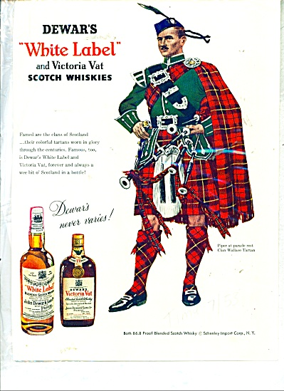 dewar's White label and Victoria Vat ad  1953 (Image1)