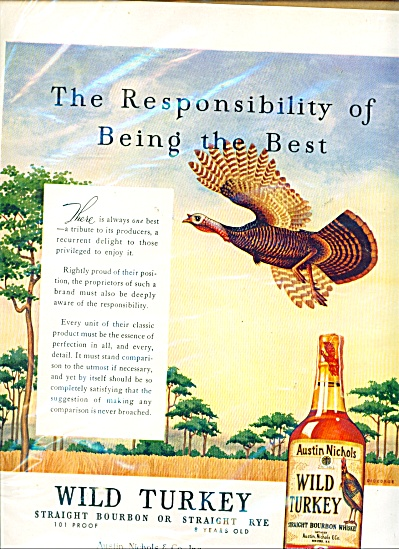 Wild Turkey Whiskey Ad