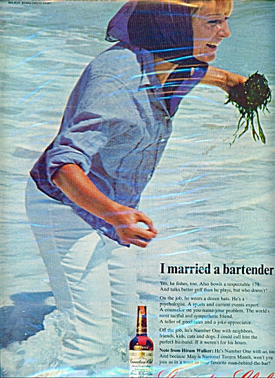 Canadian Club Ad I Married The Bartender