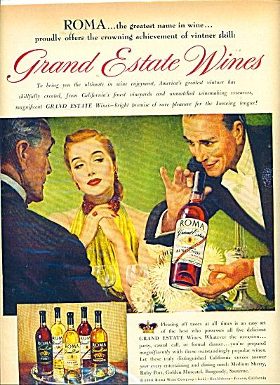 1946 ROMA WINES AD Sundblom - Agnew  ART ?? (Image1)