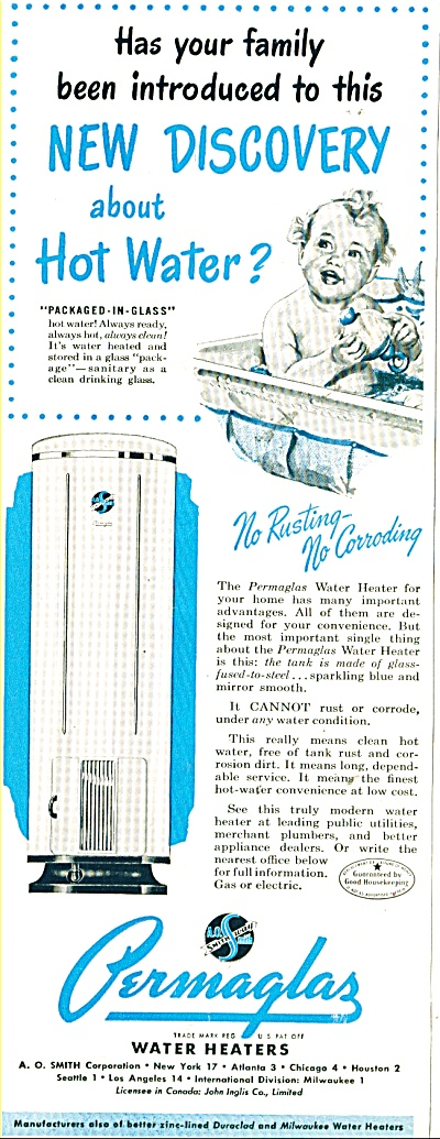 Permaglas water heaters ad  1948 (Image1)