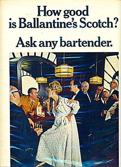 1966 Ballantine scotch ad ELEGANT LADY (Image1)