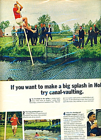 1966 Canadian Club Ad Canal Vault / Holland