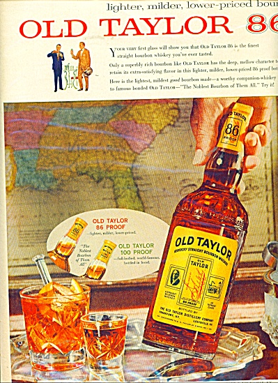 Old Taylor bourbon whisky ad (Image1)