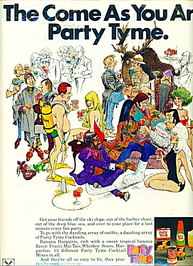 Party tyme cocktail mixes ad  - 1971 (Image1)