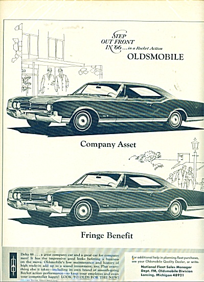 Oldsmobile out front in 66 ad (Image1)