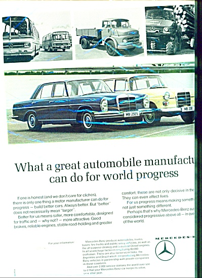 Mercedes-Benz automobile ad - 1965 (Image1)