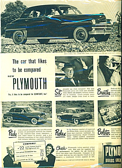 Plymouth automobile ad - 1949 (Image1)