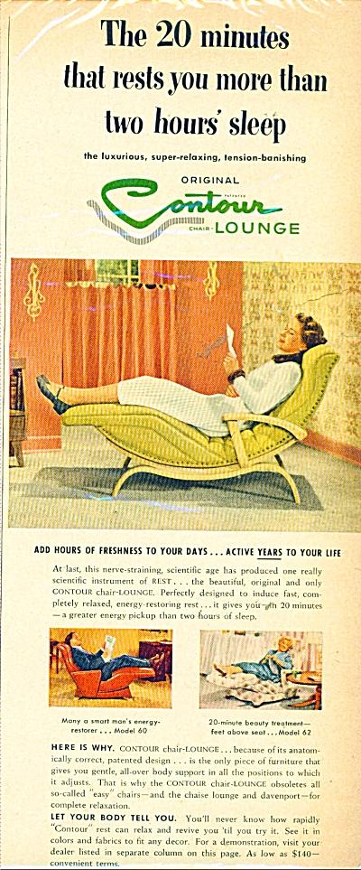 Contour Lounge ad  - 1953 (Image1)