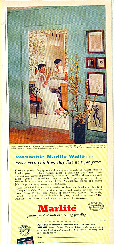 Marlite paneling ad - 1956 (Image1)