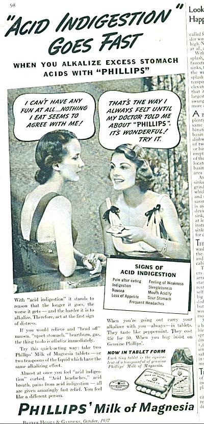 Phillips Milk of Magnesia ad - 1937 (Image1)