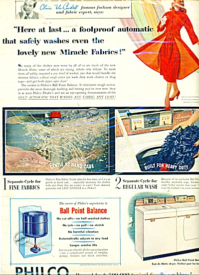 Philco Washing machines ad  1956 (Image1)