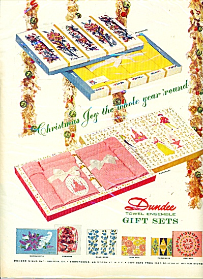 Dundee towel ensemble gift sets ad - 1956 (Image1)