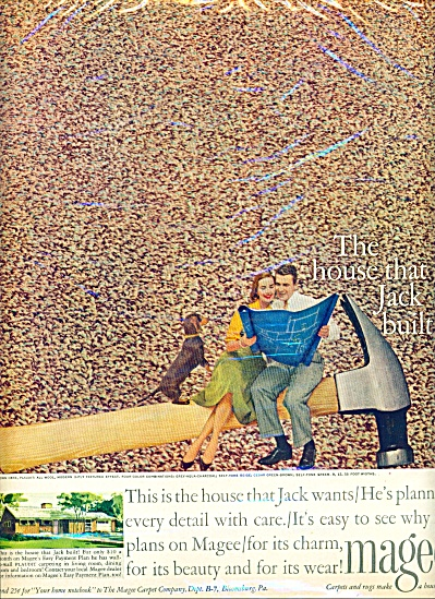 1956 MAGEE Carpet AD THE HOUSE THAT JACK BUIL (Image1)