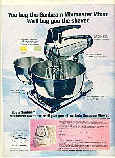 Sunbeam mixmaster mixer ad CHROME MIXER (Image1)