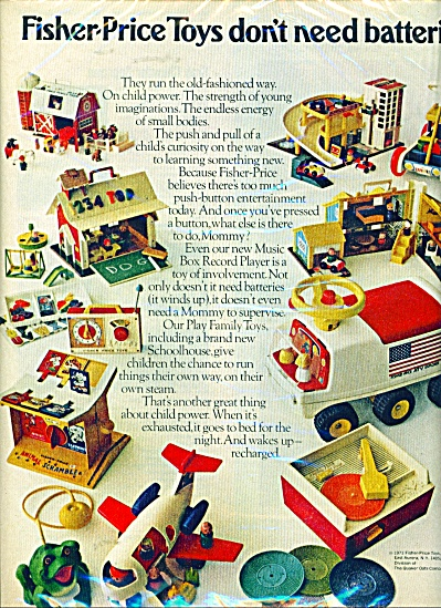 Fisher Price Toys Ad - 1971 Vintage Toys