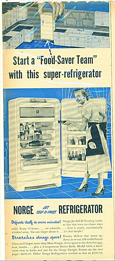Norge Refrigerator ad  1953 (Image1)