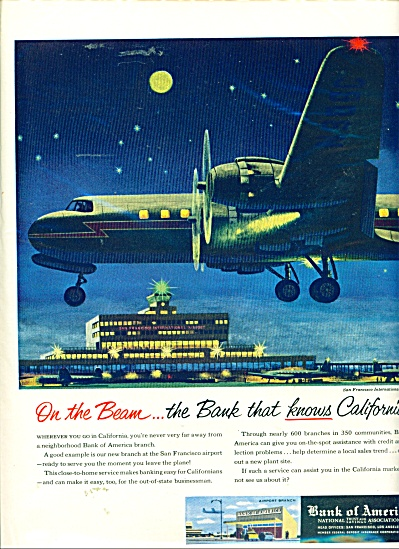 1956 Bank of America AD San Francisco AIRPORT (Image1)