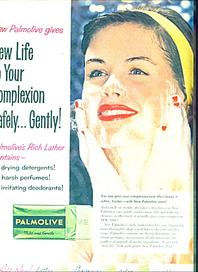 1958 Palmolive soap AD Beautiful GIRL (Image1)