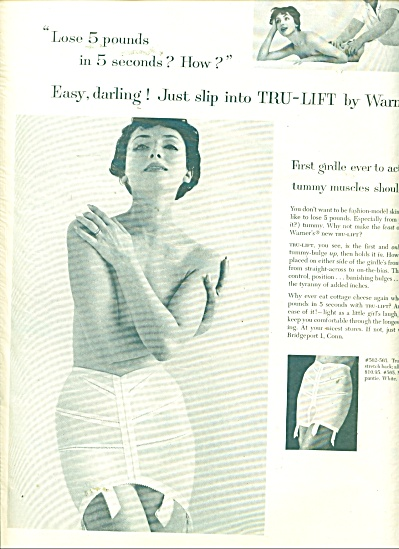 1958 WARNER'S GIRDLE True LIFT EASY DARLING A (Image1)