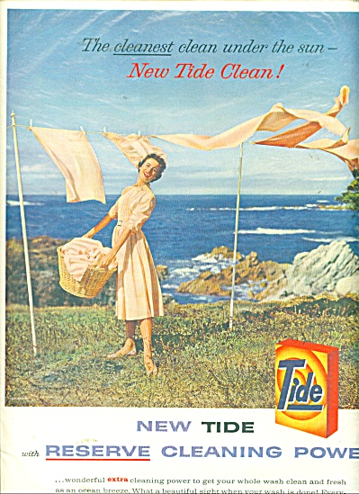 Tide  cleaning power ad - 1958 (Image1)