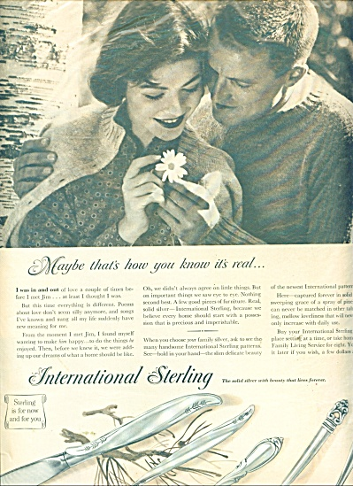 1958 International Sterling PATTERN AD (Image1)