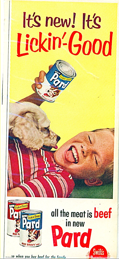 1960 PARD Dog Food AD BOY LICKIN GOOD (Image1)