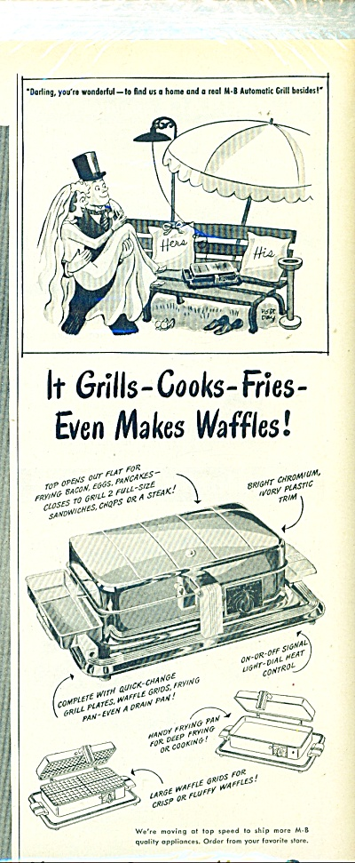 1946 Manning Bowman Ad Waffle Robt Day Art