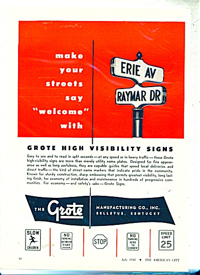 The Grote Manufacturing Co., Inc. ad 1948 (Image1)