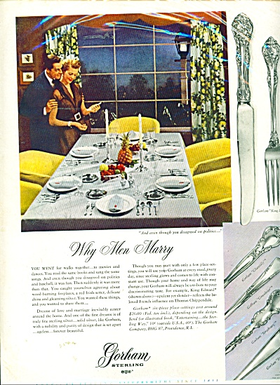 Gorham sterling ad FIVE GREAT PATTERNS (Image1)