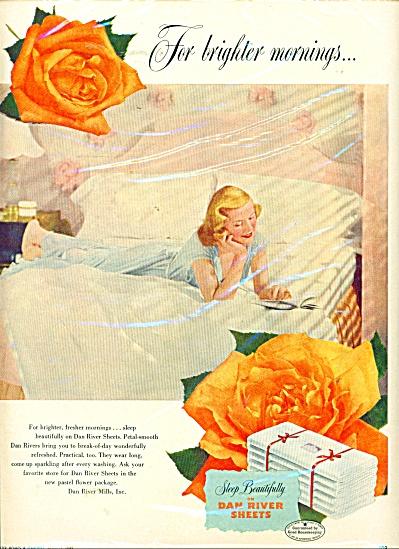 Dan River Sheets ad - 1949 (Image1)