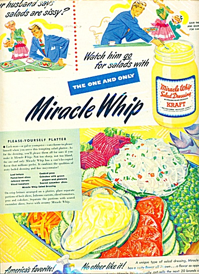 Miracle Whip salad dressing ad - 1949 (Image1)