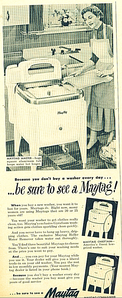 Maytag washing machine ad    1949 (Image1)