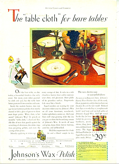 1928 Johnson's WAX / Polish AD Mammy Cleaning (Image1)