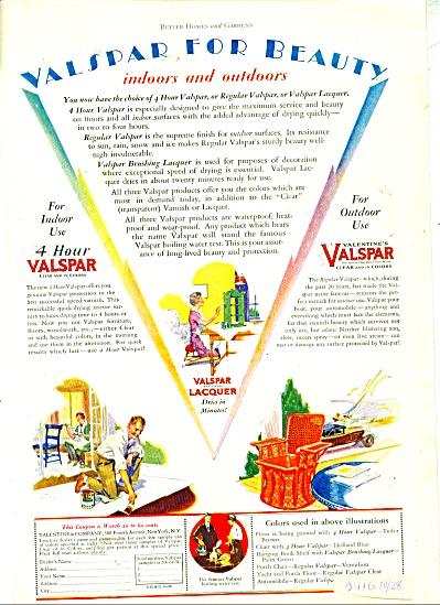 Valspar lacquer ad -  1928 (Image1)