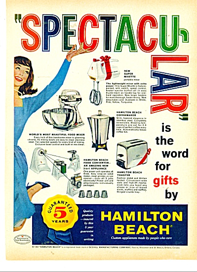 Hamilton Beach appliances ad - 1960 (Image1)